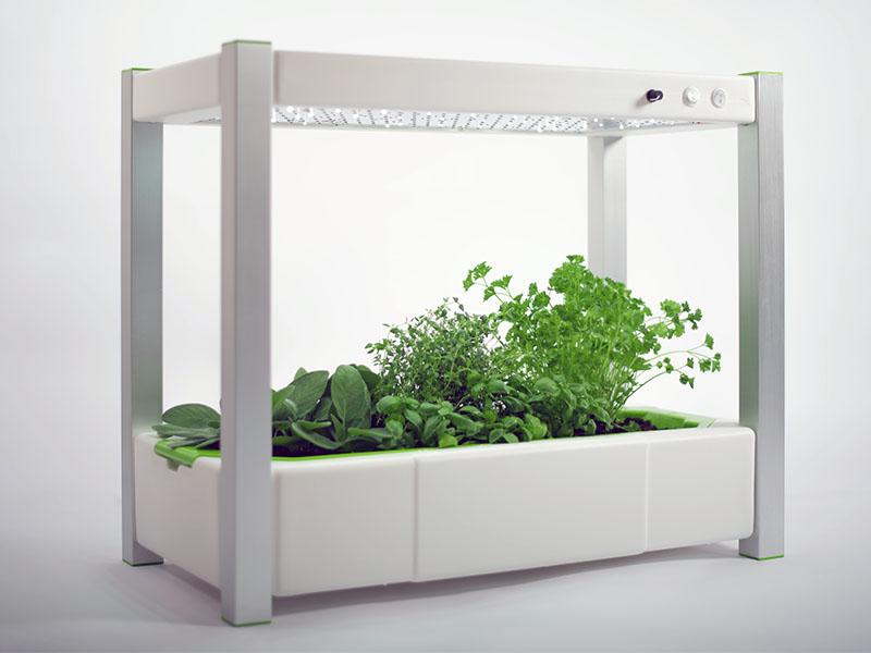 Das greenUnit Zimmergewächshaus mit einzigartiger LED-Technologie ...